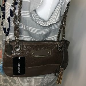 Ellen Tracy NWT Marta chain straps cocoa